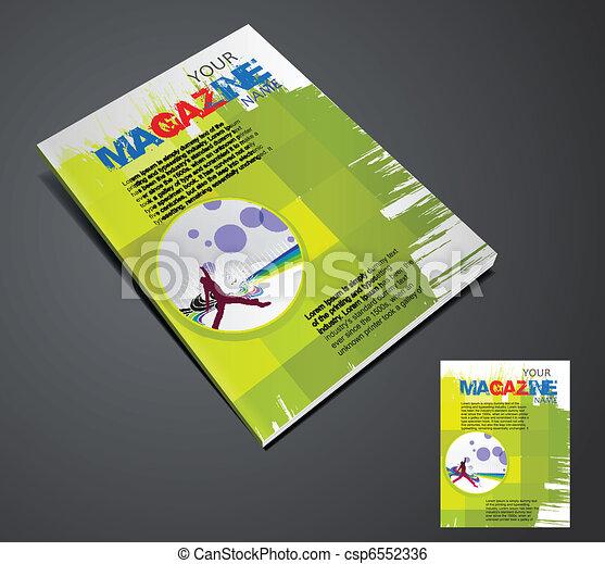 Magazine layout design - csp6552336