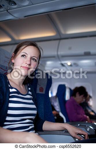 female passenger on board - csp6552620