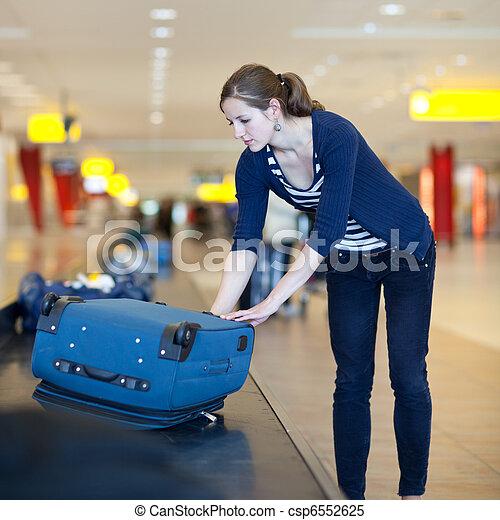 Baggage reclaim at the airport - csp6552625
