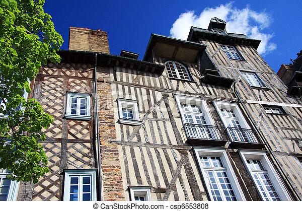 Rennes, historic buildings - csp6553808
