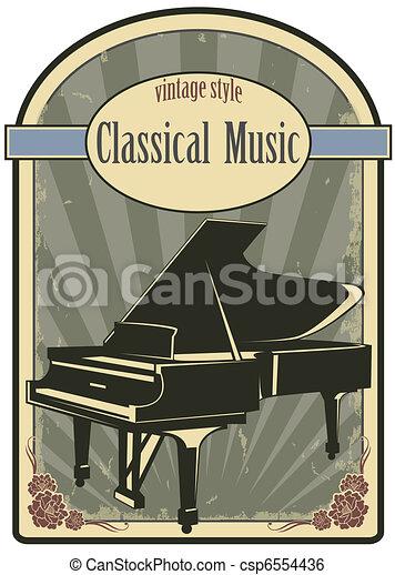 Classical music label - csp6554436