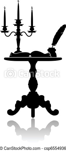 Coffee table with a candelabrum - csp6554936