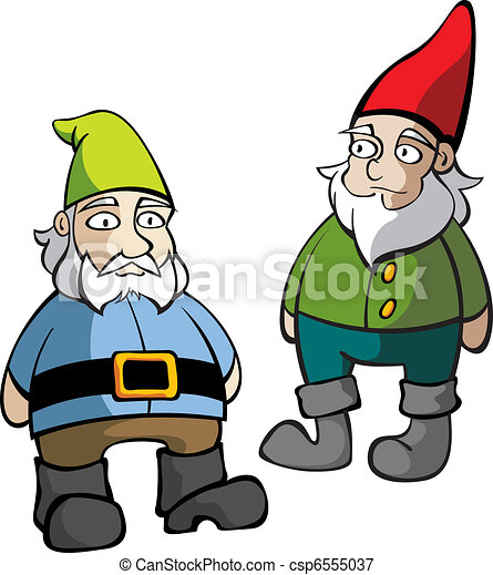 Two Lawn Gnomes - csp6555037