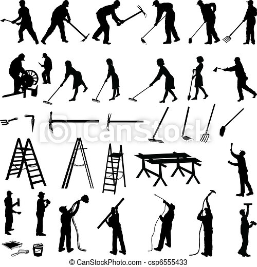 Working people and tools - csp6555433