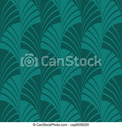 Seamless Green Fan Pattern - csp6556020