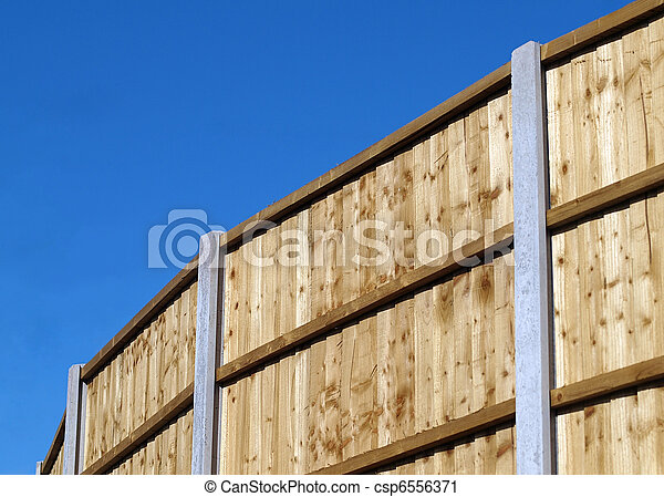 Vertical board fence panel - csp6556371