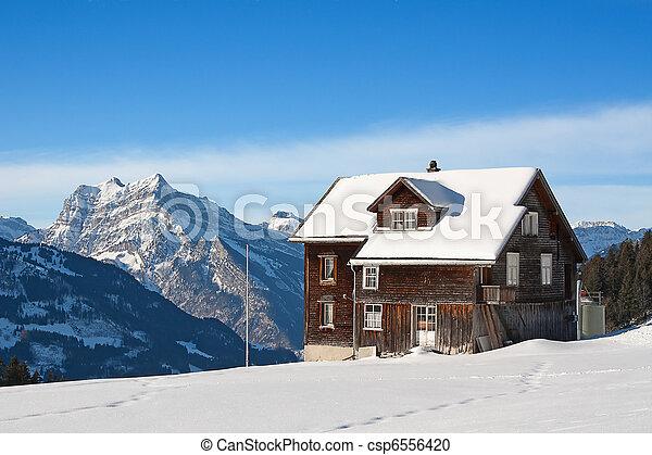 Winter in alps - csp6556420