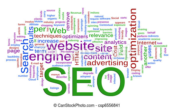 Wordcloud of SEO - Search Engine optimization - csp6556841