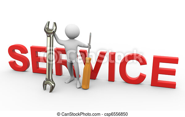 3d man with repairing tools - csp6556850
