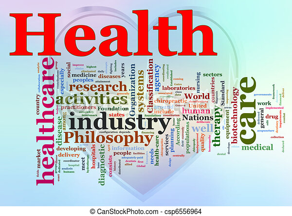 Wordcloud of Healthcare - csp6556964