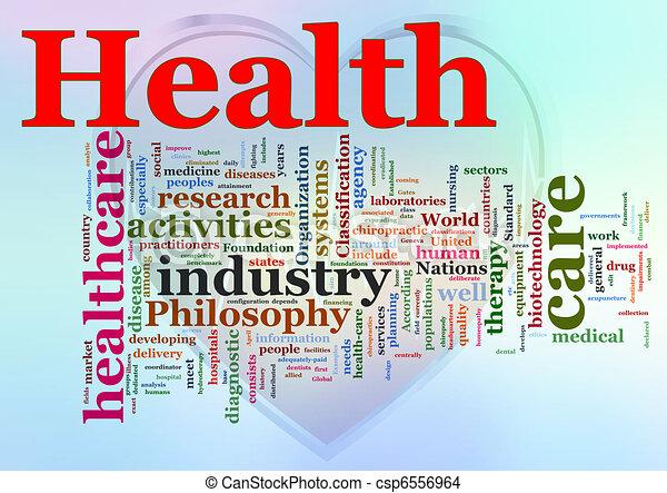 Wordcloud of Healthcare  - csp6556964