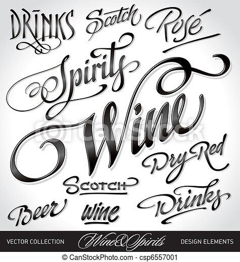 beverage headlines set (vector) - csp6557001