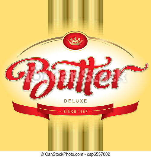 butter packaging design (vector) - csp6557002