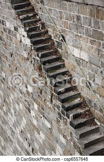images de pierre escalier long dangereux pierre escalier main csp6557648 recherchez. Black Bedroom Furniture Sets. Home Design Ideas