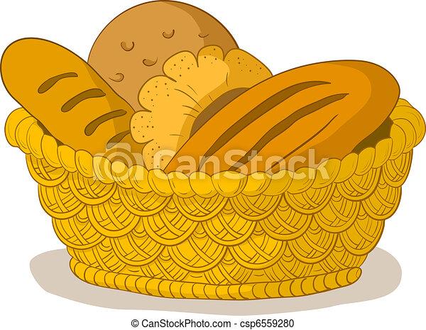 Bread in a basket - csp6559280
