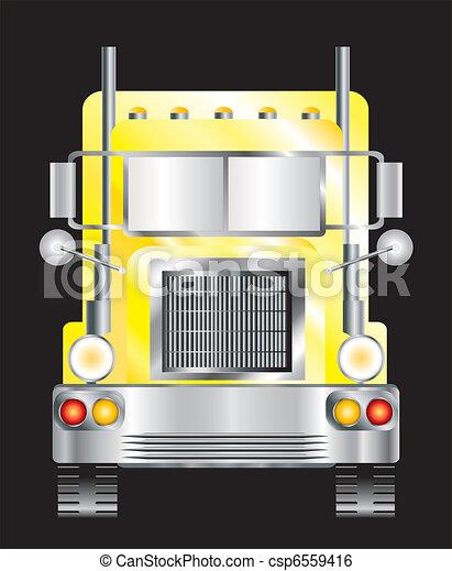 Yellow lorry - csp6559416