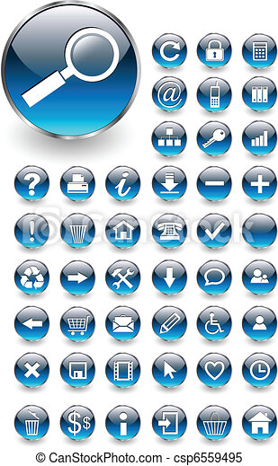 Web icons, buttons set - csp6559495