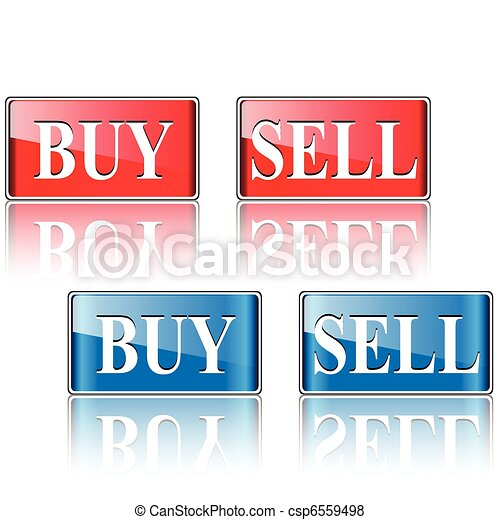 Buy, sell icons, buttons - csp6559498