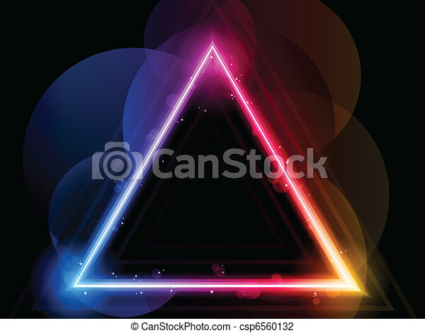 Rainbow Triangle Border with Sparkles and Swirls - csp6560132