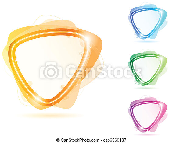 Colorful Neon Bubble Frame Triangle - csp6560137