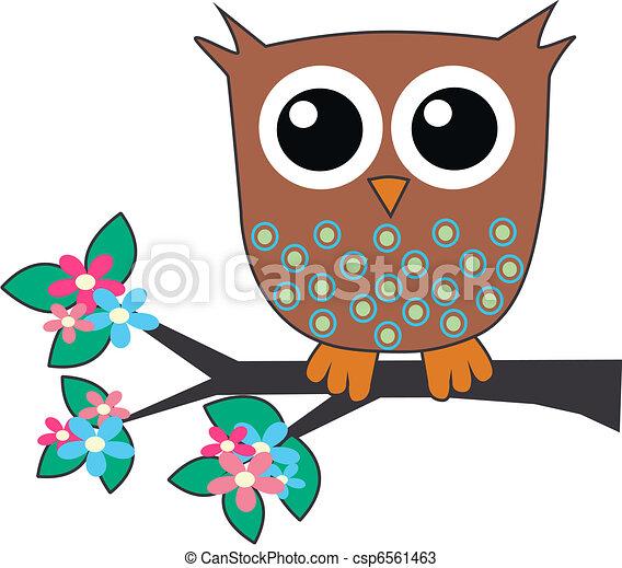 a cute little brown owl - csp6561463