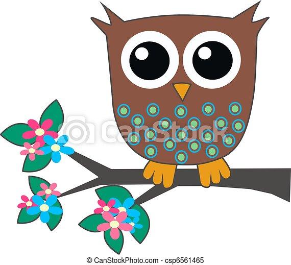 a cute little brown owl - csp6561465