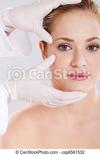 skin check before plastic surgery - csp6561532