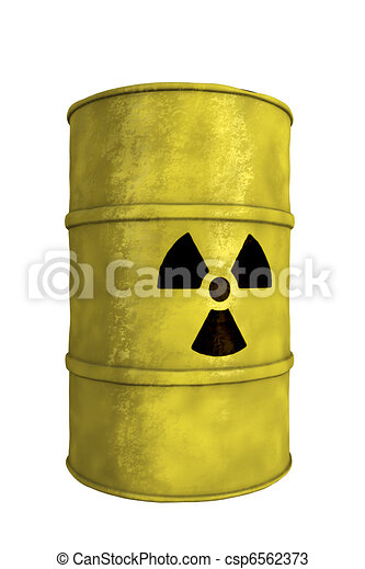 nuclear waste barrel - csp6562373