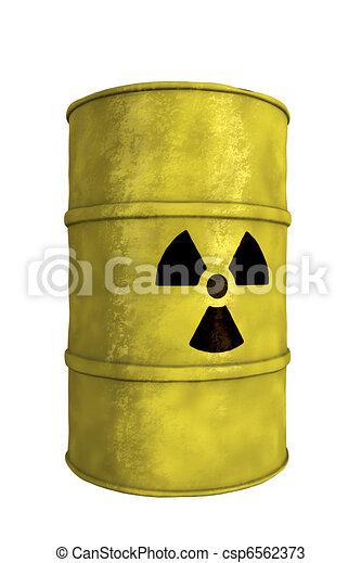 nuclear waste barrel - csp6562373