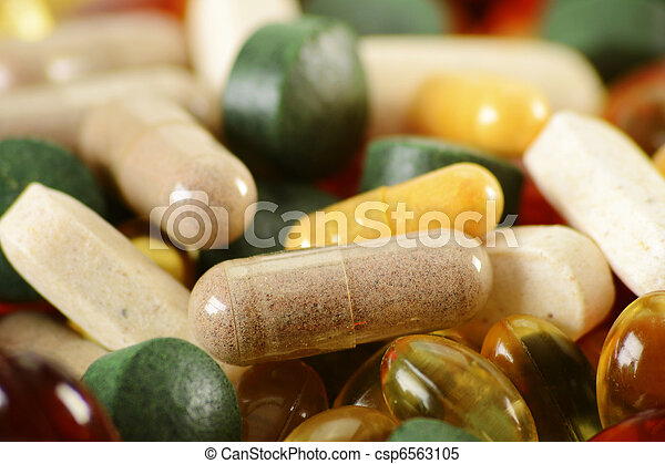 Composition with dietary supplement capsules and tablets - csp6563105
