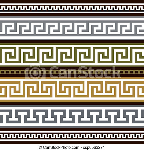 Set of vector greek borders - csp6563271