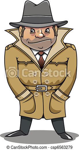 Detective agent or spy man - csp6563279
