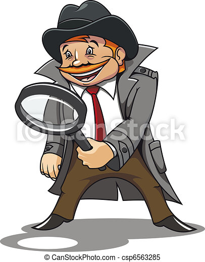 Detective with magnifying glass - csp6563285