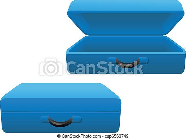 Vector - blue suitcase...