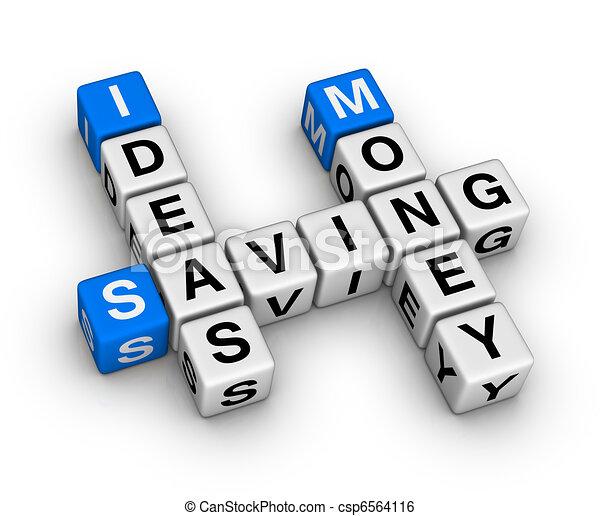 ideas saving money crossword - csp6564116