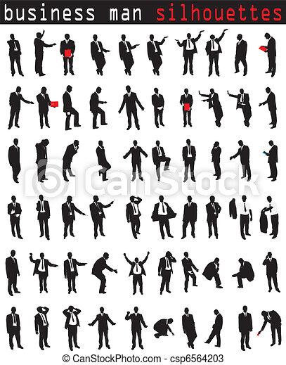 Business men in different postures - csp6564203