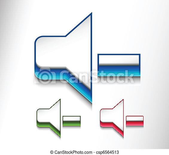 speaker volume icon web design  - csp6564513