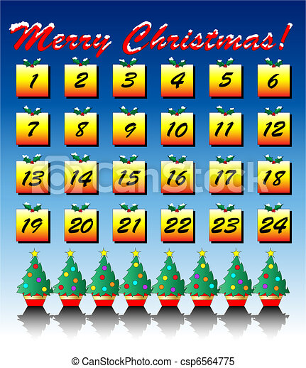 Advent calendar - csp6564775