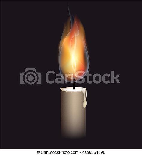 burning candle - csp6564890