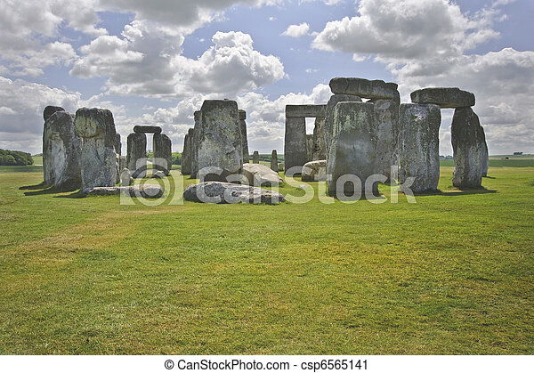 Stonehenge is aligned with the midsummer sunrise and midwinter sunset in England to celebrate the solstice.  - csp6565141