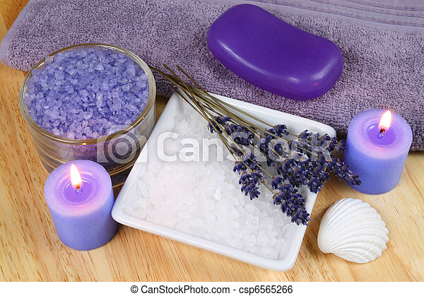 Lavender relax in spa - csp6565266