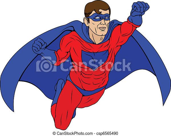 Superhero Illustration - csp6565490