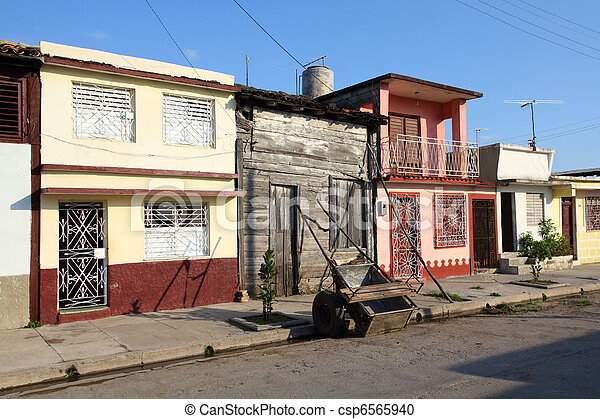 Town in Cuba - csp6565940