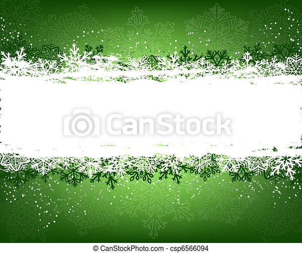 Green winter background - csp6566094
