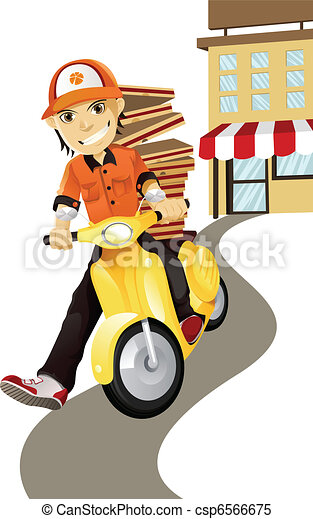 Pizza delivery man - csp6566675