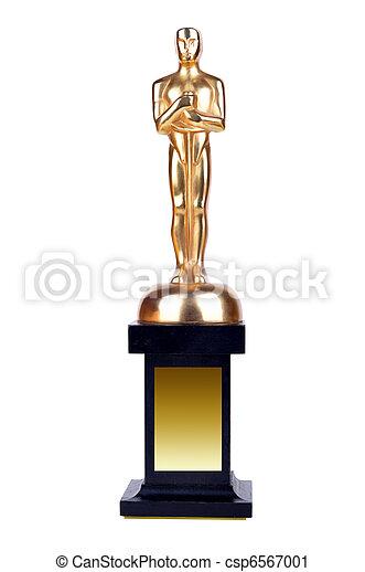 Stock Photography Of Oscar On White Background Oscar On