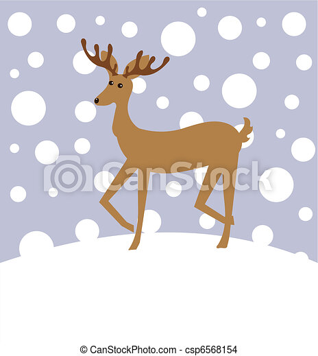 Reindeer in winter - csp6568154
