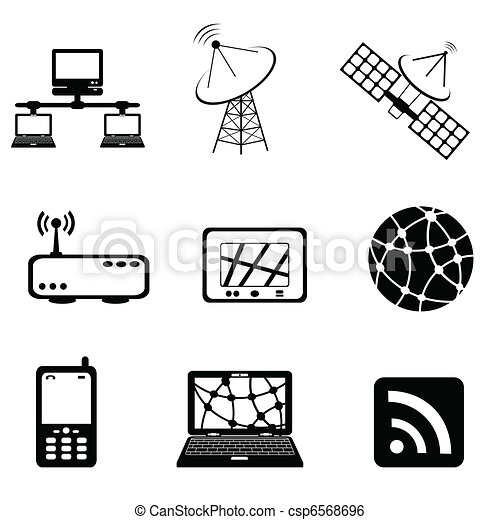 Communication and computer icon set - csp6568696