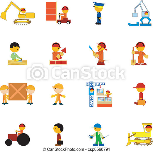 Set of illustration of professions - csp6568791