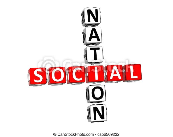 3D Social Nation Crossword - csp6569232